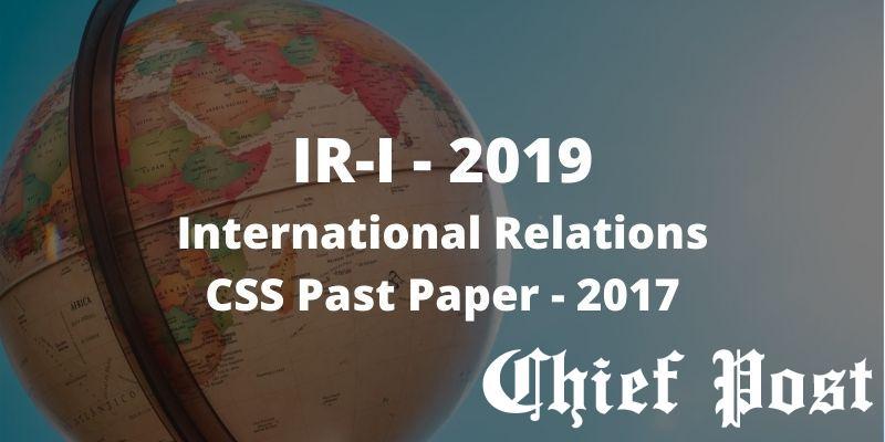 International Relations Essay - Words | Bartleby